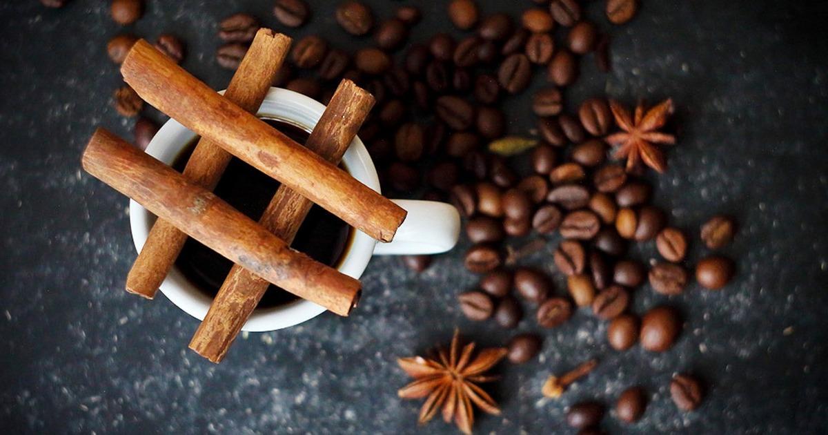 Combinação café e canela